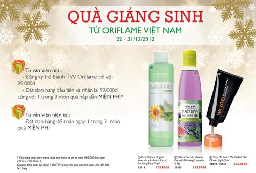 Chương trình Quà Giáng Sinh từ Oriflame Việt Nam (22-12 đến 31-12-2012)