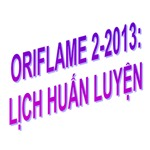 Oriflame 2-2013 - Lich Huan Luyen