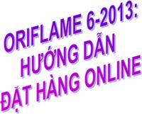 Oriflame 6-2013 - Huong Dan Dat Hang Online