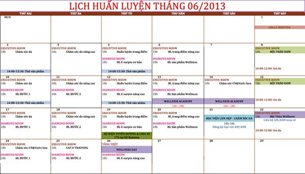 Oriflame - Lich Huan Luyen 6-2013
